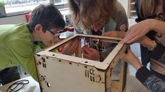 Met 3Dkanjers bouwen de leerlingen de 3D-Printer zelf.