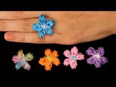 Dit is mijn Loom Bands / Rainbow Loom tutorial voor een flower ring. Ik ben hier ZO verliefd op! Bekijk en stuur Rainbow Loom fan foto's hier: http://meisjed...
