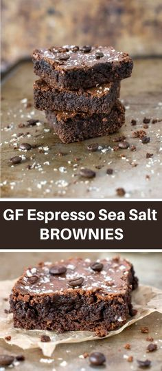 These rich, fudgy brownies have a hint of coffee and sea salt are so moist that you would never believe they are gluten free.
