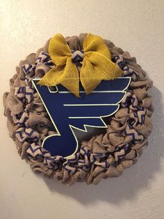 Stl Blues wreath burlap stl blues wreath St louis by WandNDesigns