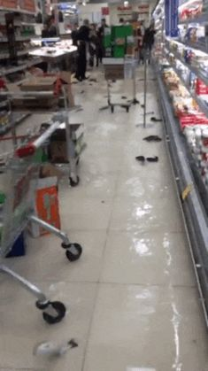 Live fish in one of the supermarkets