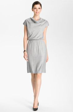 St. John Collection Blouson Waist Flannel Dress available at #Nordstrom