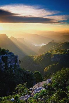 the blyde river canyon, south africa. most amazing places to visit in south africa. All Nature, Amazing Nature, Places To Travel, Places To See, Travel Destinations, Places Around The World, Around The Worlds, Beautiful World, Beautiful Places