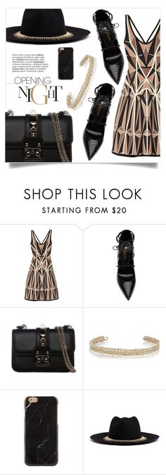 """""""Of The Night"""" by sonny-m ❤ liked on Polyvore featuring Hervé Léger, Yves Saint Laurent, Valentino, Maison Margiela, Venna, Fall, NightOut and Night"""