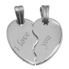Set pandantive inima pentru indragostiti personalizat prin gravura: http://www.cadouripersonale.ro/Set-pandantive-inima-pentru-personalizat-p-17122-c-379-p.html