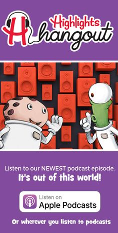 Highlights Hangout on Apple Podcasts Highlights Magazine, Space Aliens, Out Of This World, Travel With Kids, Road Trips, Traveling, Jokes, Classroom, Entertaining
