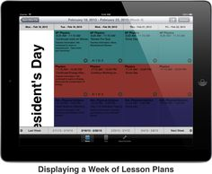 Digital Teacher Planbook - This handy site can be used as a teacher's planbook and will synch if you also have the iPad app! $$