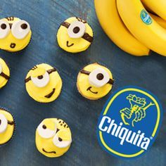 Adorable and Delicious recipe for Minions lovers! Check out more great Chiquita Recipes and Minion Games at MinionsLoveBananas.com!