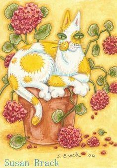 Geranium Flower pot-Susan Brack