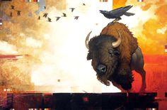 Ravens & the Bison by Craig Kosak