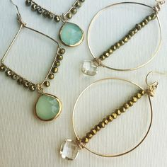 Gold rush #jewelry #earrings #pixiebellejewelry #pyrite #sparkle #handmade #accessories #gold #hoops #summerstyle