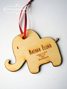 Personalized Wood Ornament Newlyweds First Christmas Laser