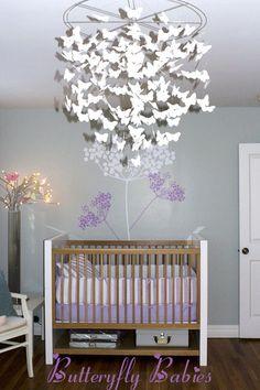Everyone loves butterflies and babies. #nursery