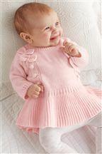 Pink Knitted Dress (0-18mths)