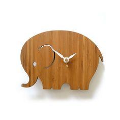 Wanduhr modern Baby - Elefanten