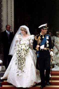 Princess Diana on her wedding day. She made a statement with her gorgeous gown. #mydreamwedding