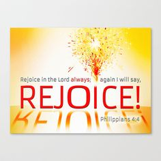 REJOICE! Stretched Canvas by Peter Gross - $85.00