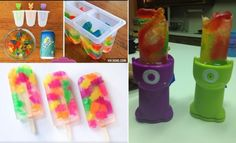 Gummy bear popsicles should be used with gummy bears. #pinterestfail