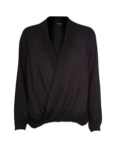 River Island Shirts & blouses, Price: GBP 30.00, Black wrap blouse