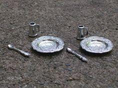 Fairy miniature metal dish set of two