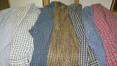 Life is a Stitch: Seven Shirts + Seven Steps = One Thrifty Quilt Grandma would be impressed.