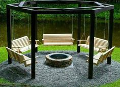 10. A campfire circle of swings perfect for s'mores. | www.eklectica.in
