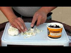 How To Make Garlic Worms For Bait - YouTube