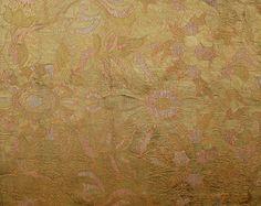 Antique Italian Textile, Silk Brocade with   Gold thread  16th Century