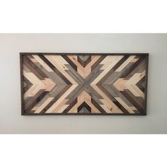 Reclaimed Wood Wall Art Wood Art Wall Decor Wood Decor Rustic Wood... ($300) ❤ liked on Polyvore featuring home, home decor, wall art, grey, home & living, home décor, wall décor, wall hangings, rustic wood wall art and aztec wall art
