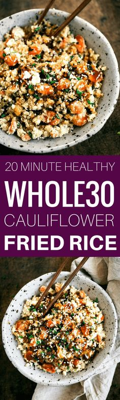 Whole30 Fried Cauliflower Rice | Paleo Gluten Free Eats