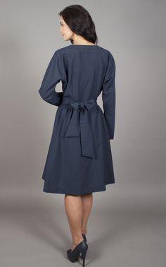 Trendcy - Black Multifunctional Hoody Dress / Jacket http://www ...