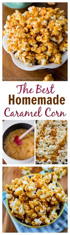 This will be your new favorite snack! Homemade Caramel Corn is so easy to make. You'll grab sweet, crunchy handful after handful, trust me!
