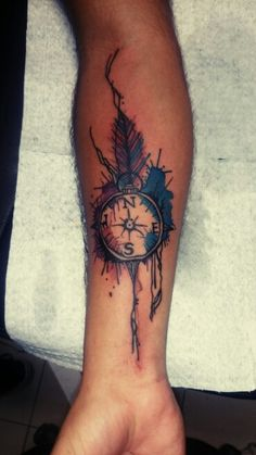 #tattoo #watercolor #compass