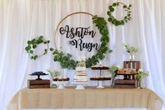 Don't miss this lovely Rustic Baptism! The dessert table is so beautiful!! See more party ideas and share yours at CatchMyParty.com #rusticparty #baptism