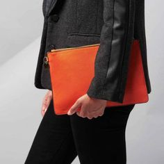 A versatile, bright pouch, perfect to add a pop of colour to your winter wardrobe. In a vibrant tangerine colour with a cute tassel detail and a personalised gold disc. These stylish pouches are the . Presents For Girls, Gifts For Girls, Tangerine Color, Teenage Girl Gifts, Clothing Labels, Winter Wardrobe, Color Pop, Colour, Clutch Bag