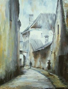 Architecture Painting, Old Alley II - Fine Art GICLEE PRINT after an original painting by Milena Gawlik