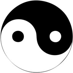 Ying Yang Symbol ❤ liked on Polyvore featuring fillers, backgrounds, pictures, doodles, circles, text, quotes, phrase, circular and round