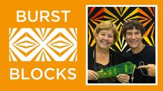 Make an Easy Burst Block Quilt with Jenny & Rob!