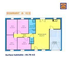plan maison plain pied 3 chambres | idées pour la maison ... - Plans De Maison Plain Pied 3 Chambres