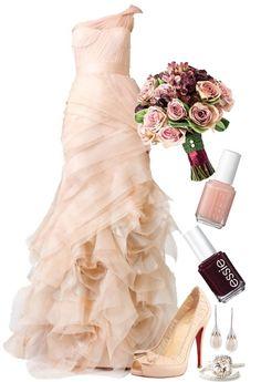 """Dream Wedding: Blush Dress!"" by stylesdice ❤ liked on Polyvore"