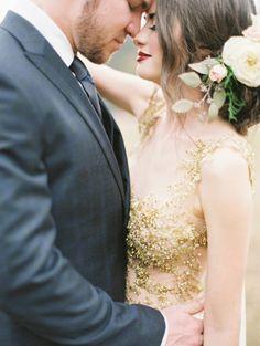 Glam gold dress: http://www.stylemepretty.com/little-black-book-blog/2014/12/05/gorgeous-gold-dress-giveaway/   Photography: Brandi Smyth - http://www.brandismyth.com/