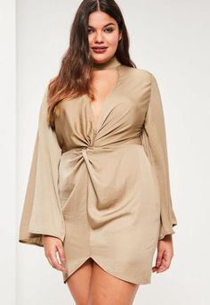 Plus Size Satin Dress