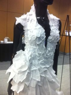 Paper wedding gown. Constructed completely of paper, by Thrifty Chic Love (Molly Ryle)