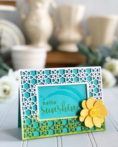 Hello Sunshine Card by Dawn McVey for Papertrey Ink (July 2018)