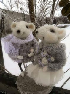 Mouses in January By Sadovskaya Tatiana - Bear Pile