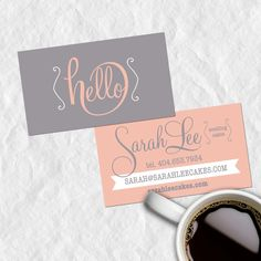 Premade Business Card Design, Calling Cards, Customized with Your Personal Info, Vintage. $14.99, via Etsy.