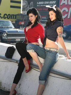 rockabilly girls with cars | pin up girls lip stick girls rad rot babes rock a billy babes