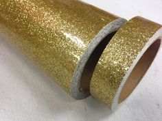 Gold Glitter Flake Vinyl Tape, choose your size, Glitter Chips Sparkle ! in Crafts, Paper Crafts/ Origami | eBay