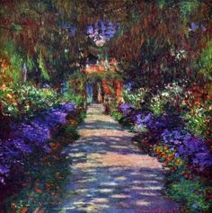 Claude Monet, french impresionist, 1840-1926. Garden at Giverny by Claude Monet.