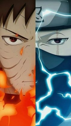 Poster design I created, based off of two characters (Obito Uchiha and Kakashi Hatake), from the anime series Naruto Shippuden Kakashi Sharingan, Naruto Shippuden Sasuke, Naruto Kakashi, Anime Naruto, Wallpaper Naruto Shippuden, Naruto Wallpaper, Naruto Art, Manga Anime, Hinata
